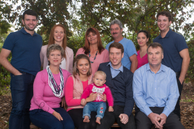Visser and extended Family